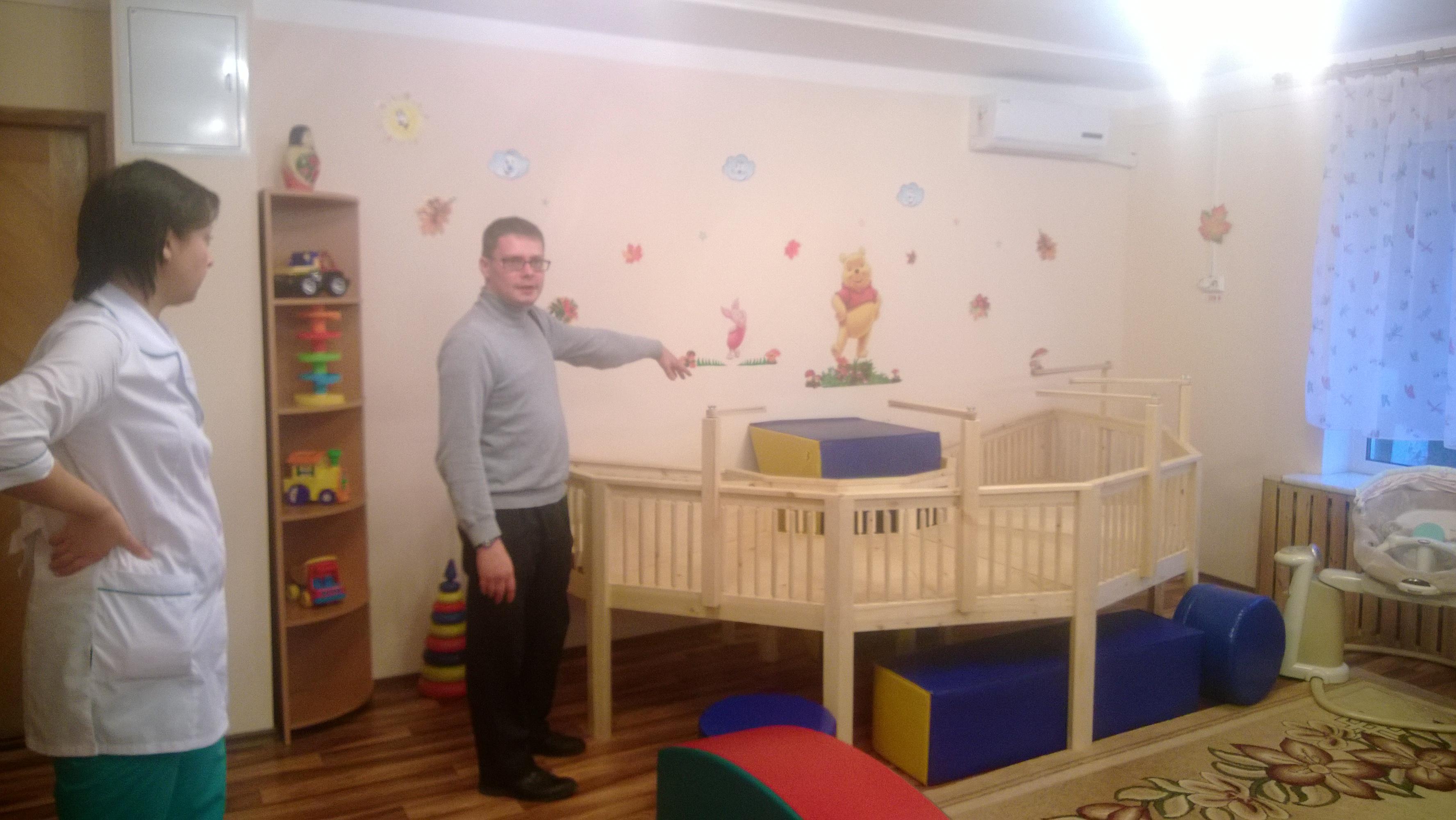 Новый манеж в Доме ребенка №15