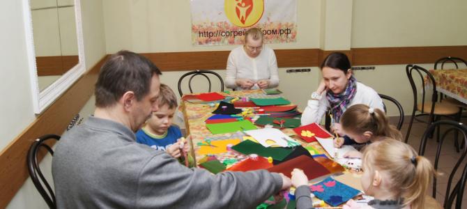 Мастер-класс детишкам по подготовке открыток для ветеранов Великой Отечественной войны в КЦСО Тверской
