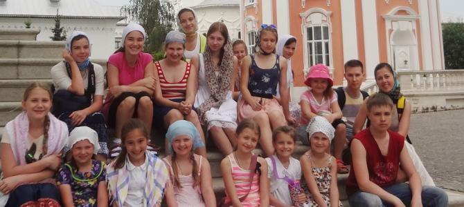 Экскурсия для детей из творческих коллективов ДК «Алые паруса» по святым местам Сергеева Посада.
